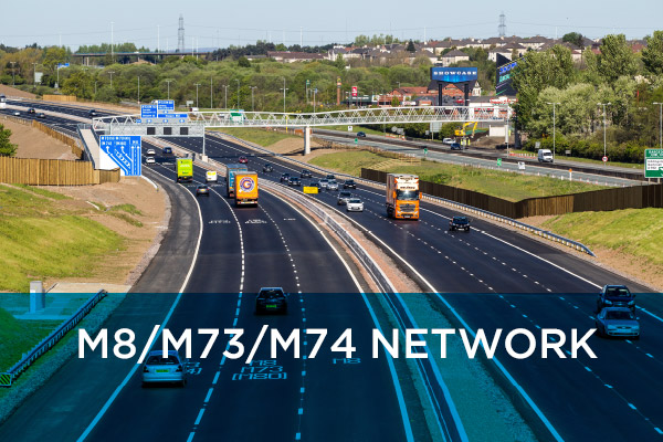The M8, M73 and M74 Improvements Project is a £500 million investment programme which is being delivered by the Scottish Roads Partnership (SRP)
